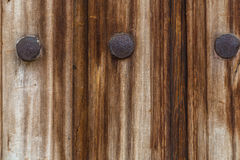 Old planks and iron nails background Royalty Free Stock Photo