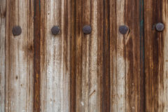 Old planks and iron nails background Stock Photos