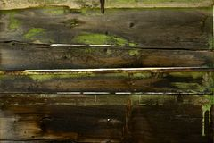 Old Planks with Old Paint Stock Photography