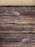 Old planks and paper sheet Stock Photo