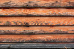 Old planks pattern. Old planks forming an interesting texture at the exterior of a lodge Royalty Free Stock Images