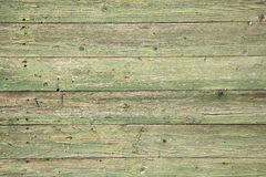 Old planks with peeling green paint Royalty Free Stock Photos
