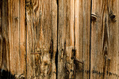 Old planks with rusty metal nails in Stock Photography
