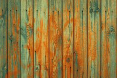 Old planks with spots of brown color stock image