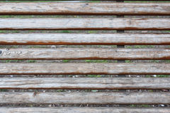 Old planks on a wooden bench Stock Photography