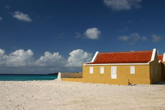 Old plantation home. In Washington Park, Slagbaai on tropical island of Bonaire stock images