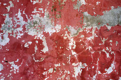 Old plaster. Red old plaster wall texture Stock Photography