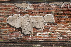 Old plaster on the brick wall Royalty Free Stock Photography