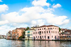 Old Plaster Buildings in Venice Canal Stock Photo
