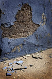 Old Plaster Wall Broken Crumble Pieces Stock Images