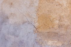 Old plastered painted in two colors wall texture background royalty free stock images
