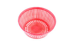 Old plastic basket on a white background Stock Photography