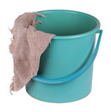 A bucket with a cloth Stock Photography