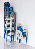 Old plastic chairs Royalty Free Stock Photography