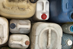 Old plastic containers Royalty Free Stock Photos