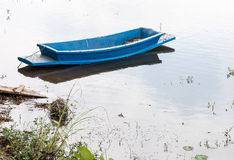 Old plastic rowboat Royalty Free Stock Images