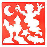Old plastic stencil Royalty Free Stock Image