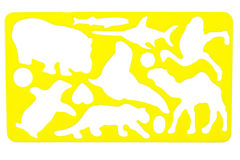 Old plastic stencil Stock Image