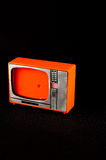 Old Plastic Televison. Classic Vintage Retro Style Old Plastic Televison Royalty Free Stock Photography