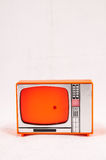 Old Plastic Televison. Classic Vintage Retro Style Old Plastic Televison Royalty Free Stock Images