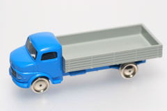 Old plastic toy truck. One of the many thousand  toys my brother is collecting. Toy truck from the 1960's. I think it´s a Mercedes Stock Image