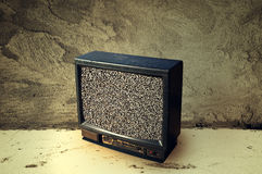 Old plastic TV Royalty Free Stock Images