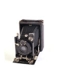 Old plate camera. On a white background Stock Images