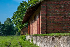 Old platform. Old train station and railroad Royalty Free Stock Images