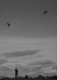 Old play kite stock photos