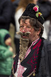 "The Old Player. Picture from The Annual ""Surva"" Carnival, Pernik, Bulgaria Stock Image"