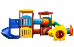 Old playground isolated on white background Royalty Free Stock Photography