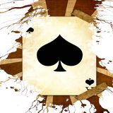 Old playing card Royalty Free Stock Photography