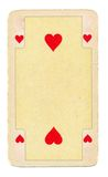 Old playing card of hearts background Stock Photography