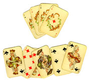 Old playing cards Royalty Free Stock Photo