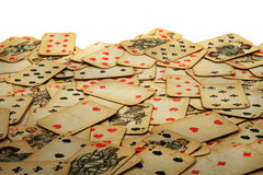 Old playing cards Stock Photography