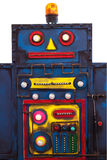 The old plaything robot. Is steel blue Stock Photo