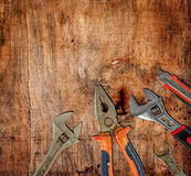 Old pliers Stock Photo
