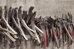 Old pliers. Royalty Free Stock Photography