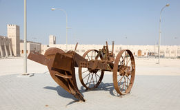 Old plough at Sheikh Faisal Museum, Qatar Royalty Free Stock Photography