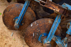 Old ploughs Royalty Free Stock Photos