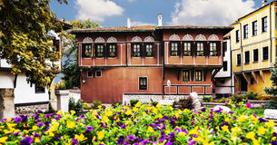 Old Plovdiv houses Stock Image