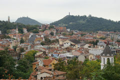 Old Plovdiv. Panorama of the old part of the ancient Bulgarian city of Plovdiv Stock Image
