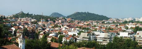 Old Plovdiv skyline panorama ,Bulgaria Stock Photo