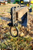 Old plow at farm auction. Old farmers plow at farm sell or auction Royalty Free Stock Photography