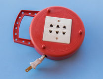 old plug electrical power strip Stock Images