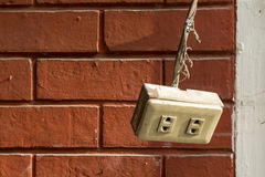 Old plug socket Royalty Free Stock Images