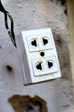 Old plug. Royalty Free Stock Images