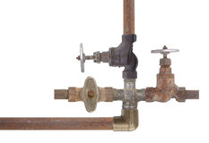 Old plumbing Stock Photo