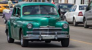 An Old Plymouth in Cuba royalty free stock photo