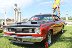 Old Plymouth Duster Car at the car show Royalty Free Stock Images